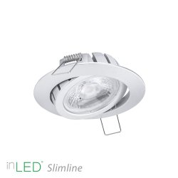 inLED Slimline 9W IP44 hopea, 27 mm