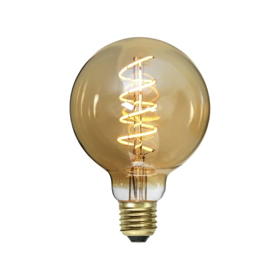 LED-lamppu E27 G95 Decoled Spiral Amber